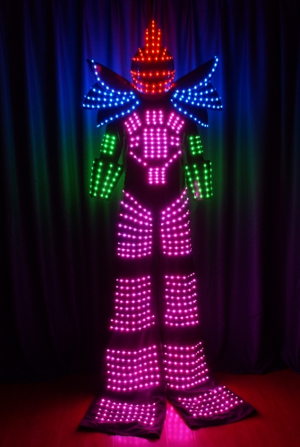 Full Color Stilt Walkers' LED Robot Costumes